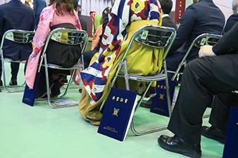 卒業式の様子:写真