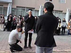 国家試験出発式の様子:写真